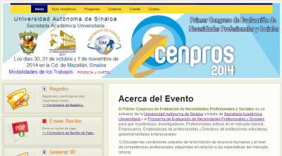 Sitio Web Cenpros 2014